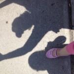shadow photos -- Ryan and Grammy